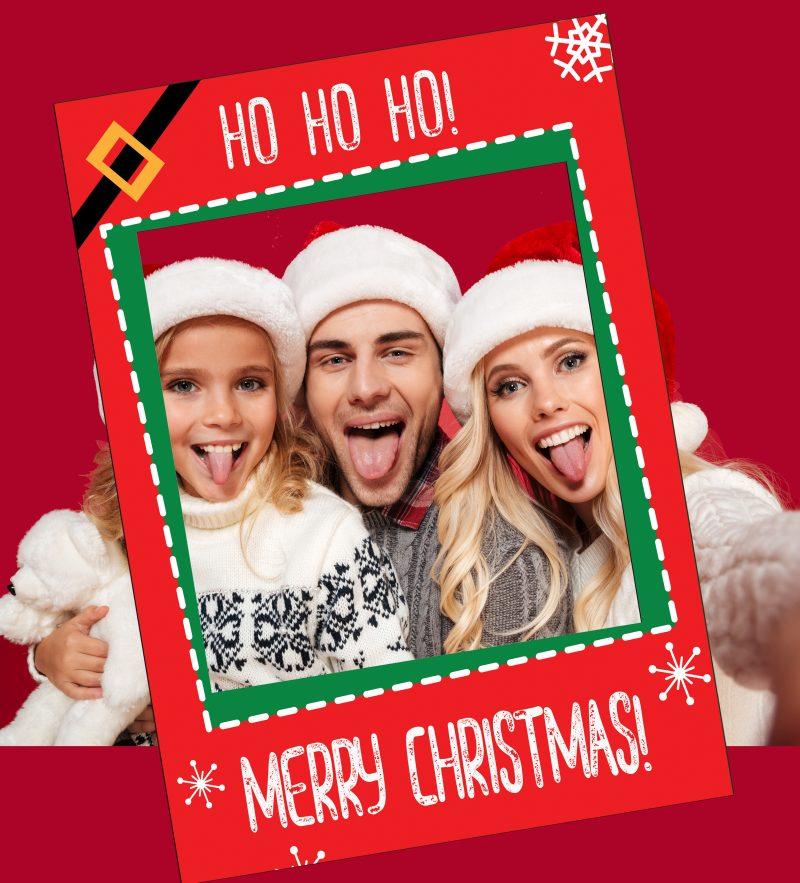 Custom Christmas Selfie Frames