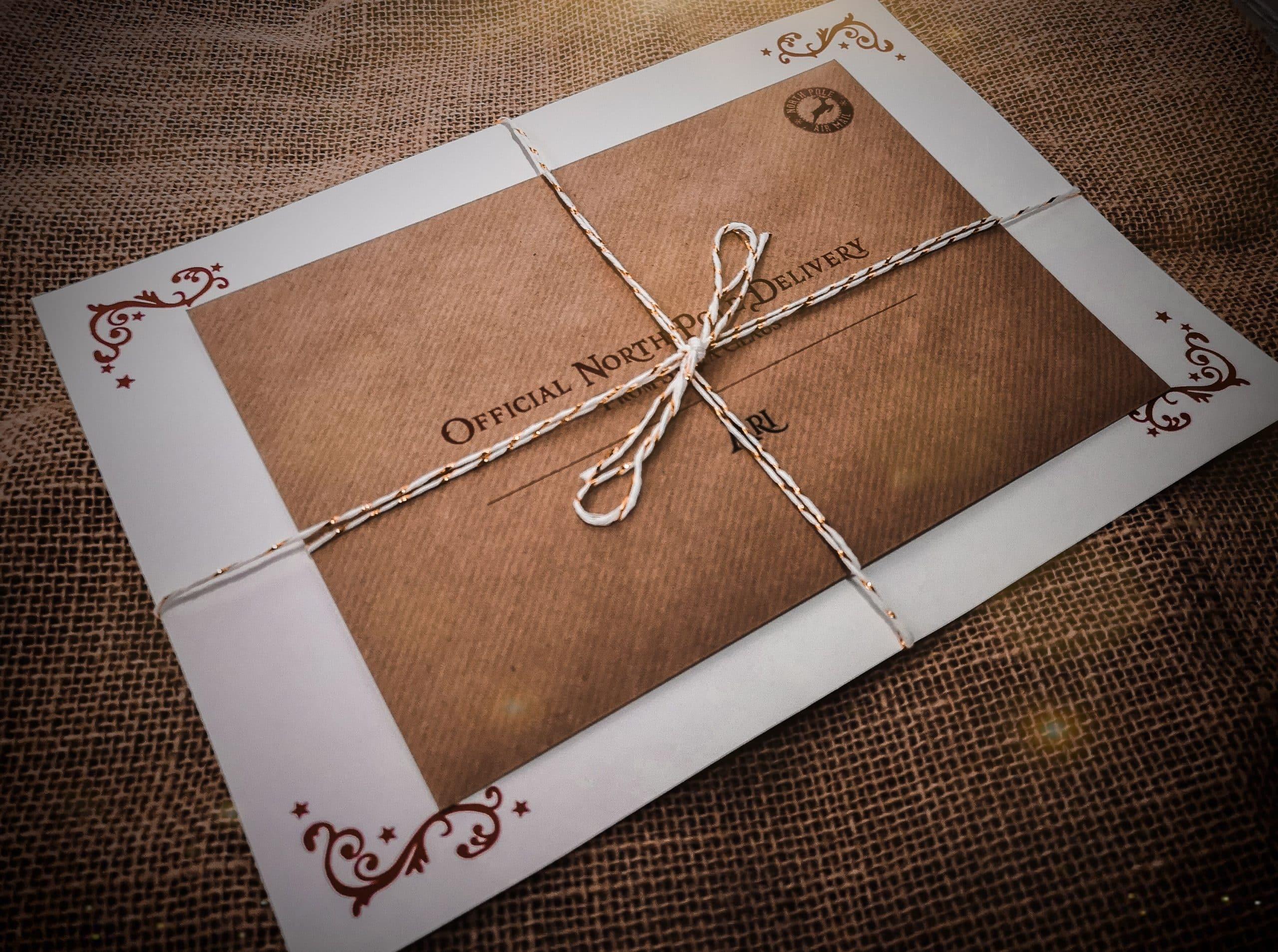 Luxury Custom Letter From Santa Nice List Certificate
