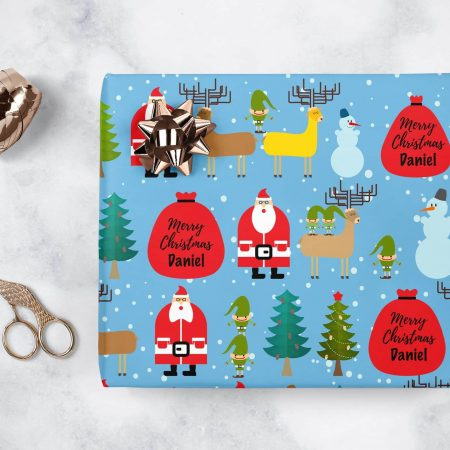 custom christmas wrapping paper