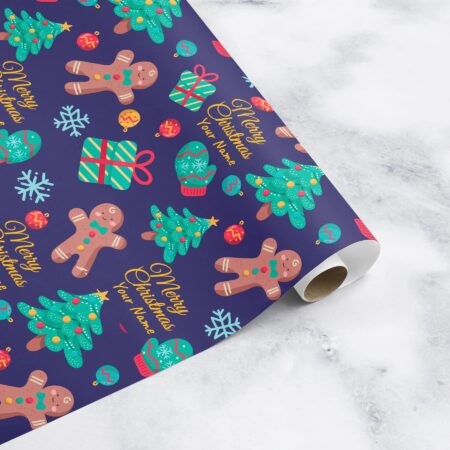 personalised christmas wrapping paper