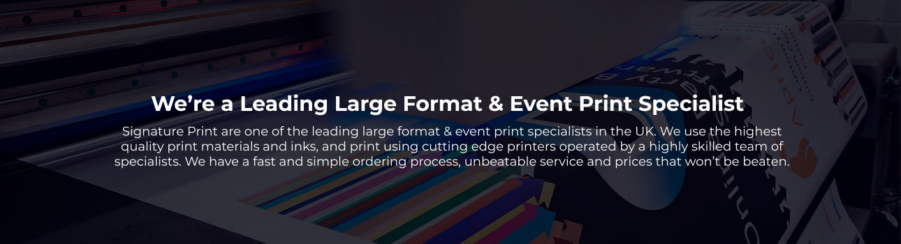 SUSTAINABLE LARGE FORMAT PRINTING